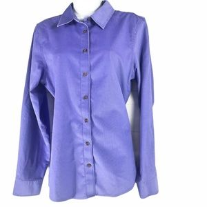 ORVIS Women Size 12 Vintage Wrinkle Free Button Up